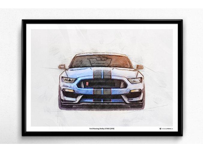 Ford Mustang Shelby GT350 (2018) - plakát, obraz na zeď