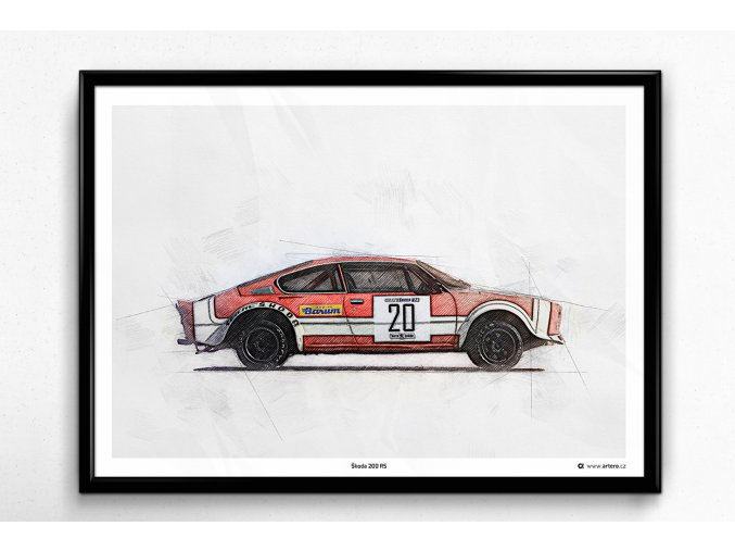 Škoda 200 RS - plakát, obraz