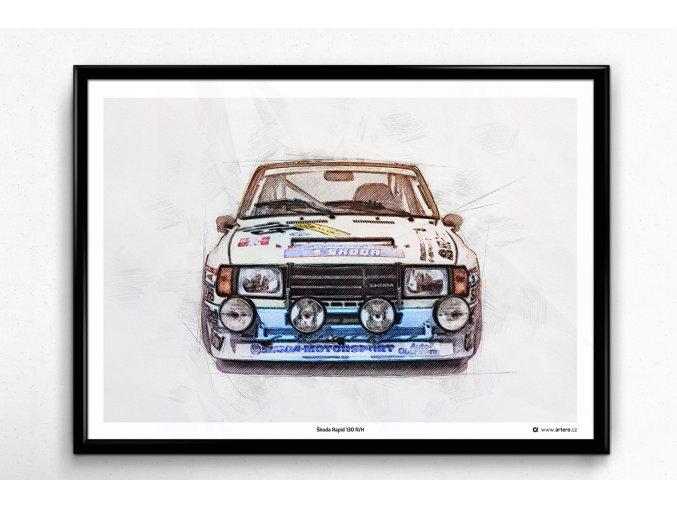 Škoda Rapid 130 R/H - plakát, obraz na zeď