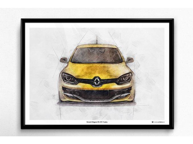 Renault Megane RS 275 Trophy - plakát, obraz na zeď