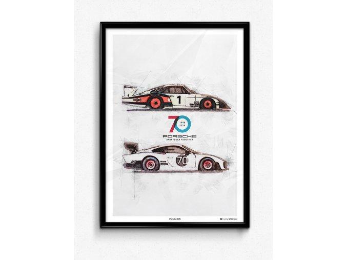 """Porsche 935 """"Rennsport Reunion"""" - plakát, obraz na zeď"""