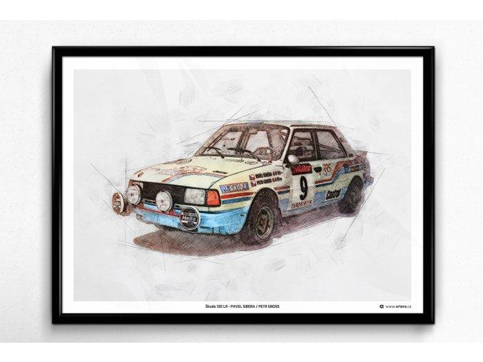 Škoda 130 LR - Pavel Sibera / Petr Gross - plakát, obraz na zeď