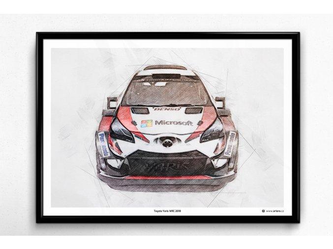 Toyota Yaris WRC 2018 - plakát, obraz na zeď