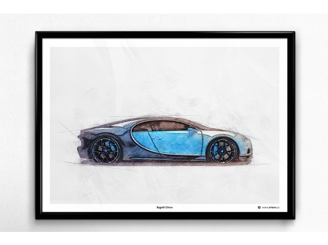 Bugatti Chiron - plakát, obraz na zeď
