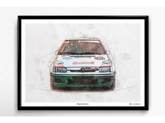 Škoda Felicia Kit Car - plakát, obraz na zeď