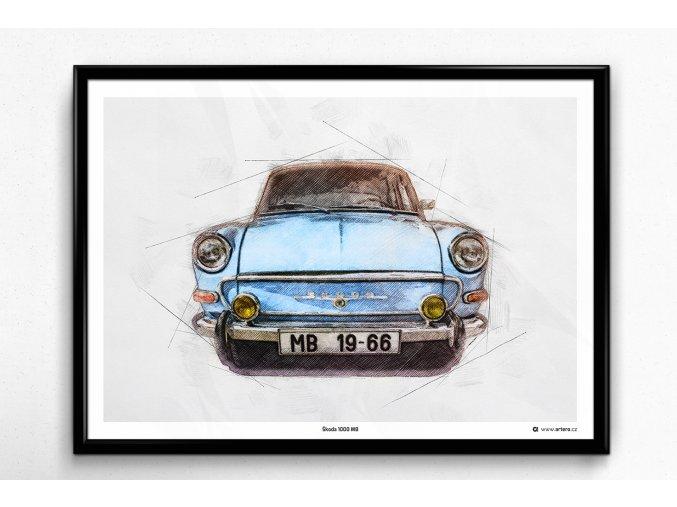 Škoda 1000 MB - plakát, obraz na zeď