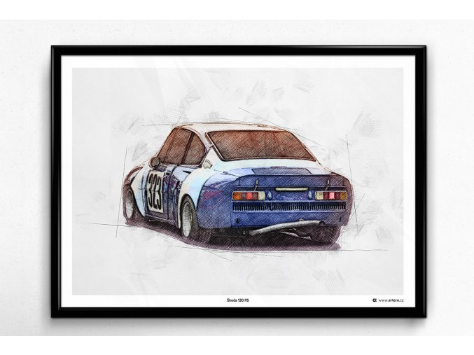 Škoda 130 RS 1975 - plakát, obraz na zeď