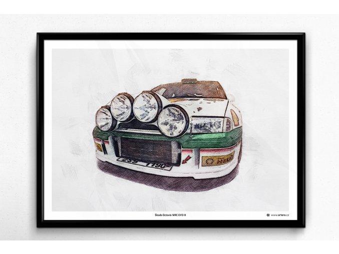 "Škoda Octavia WRC Evo 3 ""Night"" - plakát, obraz na zeď"