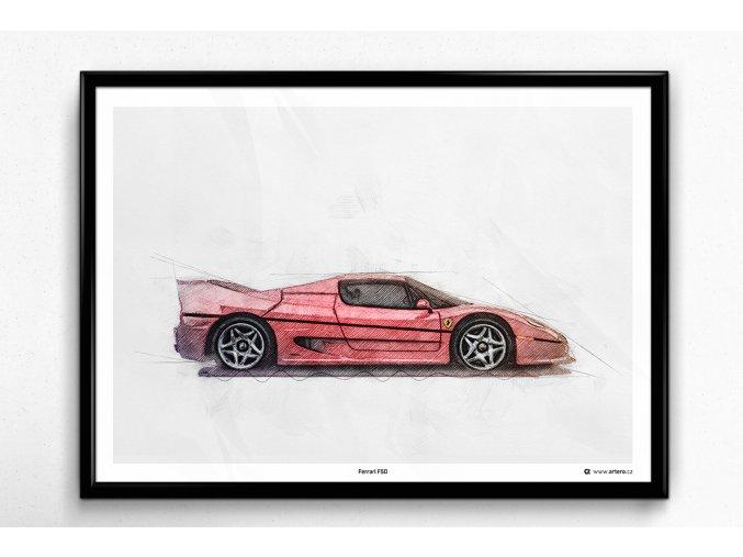 Ferrari F50 - plakát, obraz na zeď