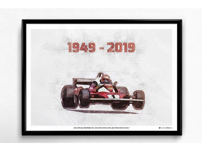 """Andreas Nikolaus """"Niki"""" Lauda - plakát, obraz na zeď"""