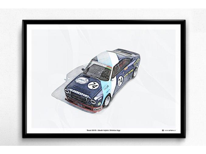 Škoda 130 RS Vojtěch / Enge - plakát, obraz na zeď