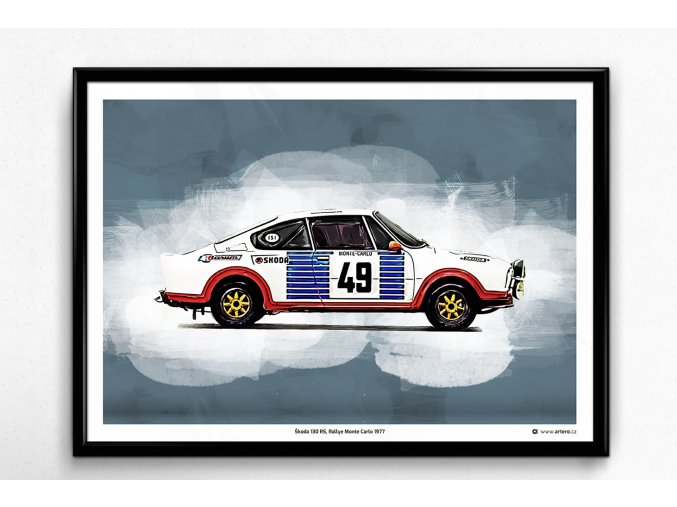Škoda 130 RS Rallye -  plakát, obraz na zeď