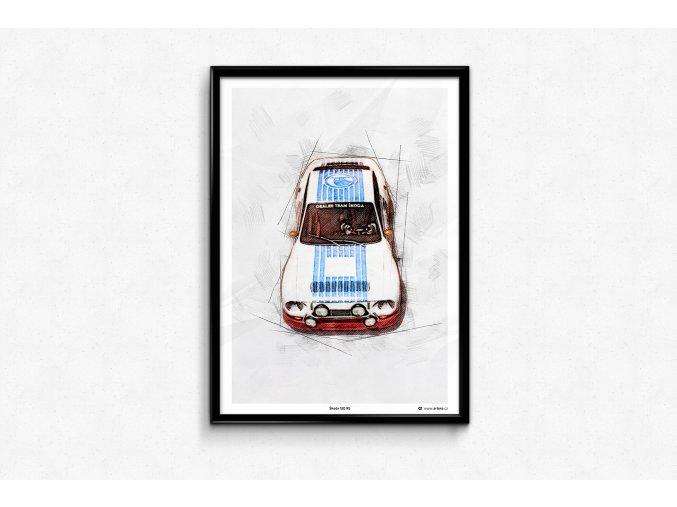 Škoda 130 RS 1977 - plakát, obraz na zeď