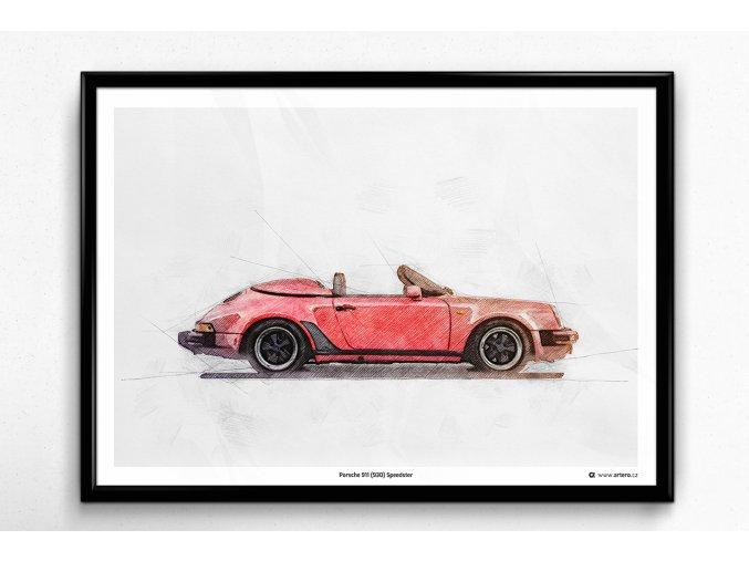 Porsche 911 (930) Speedster - plakát, obraz na zeď