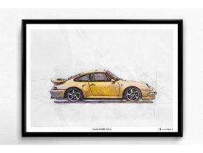 Porsche 911 (993) Turbo S - plakát, obraz na zeď