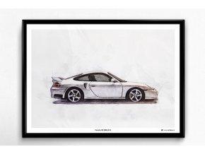 Porsche 911 (996) GT2 - plakát, obraz na zeď