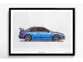 Subaru Impreza STI 22B - plakát, obraz na zeď