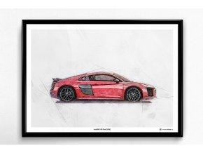 Audi R8 V10 Plus - plakát, obraz na zeď