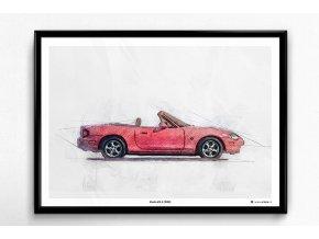Mazda MX-5 (1998) - plakát, obraz na zeď