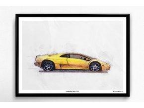 Lamborghini Diablo VT 6.0 - plakát, obraz na zeď