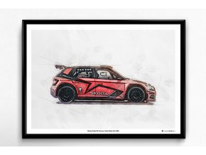 Škoda Fabia R5 Barum Rally 2017 - plakát, obraz na zeď