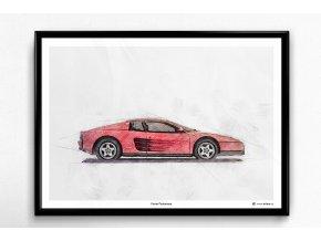 Ferrari Testarossa - plakát, obraz na zeď