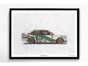"BMW M3 E30 ""Tic Tac"" - plakát, obraz na zeď"