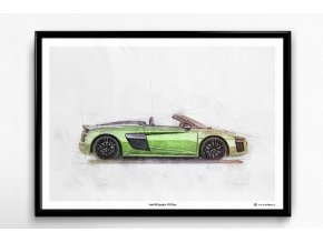 Audi R8 Spyder V10 Plus - plakát, obraz na zeď