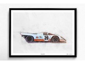 """Porsche 917 """"Le Mans"""" - plakát, obraz na zeď"""
