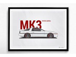 "Toyota Supra MK3 ""BL"" - plakát, obraz na zeď"
