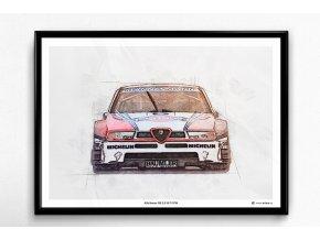 Alfa Romeo 155 2.5 V6 DTM - plakát, obraz na zeď
