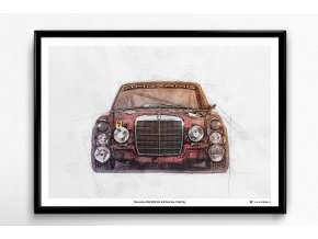 Mercedes AMG 300 SEL 6.8 Rote Sau - plakát, obraz na zeď