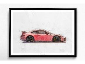 Porsche 911 (991) GT3 - plakát, obraz na zeď