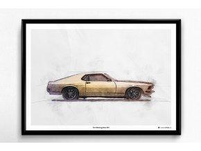 Ford Mustang Boss 302 - plakát, obraz na zeď