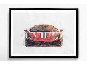 Ferrari 488 Pista - plakát, obraz na zeď