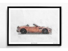 Jaguar F-TYPE Convertible - plakát, obraz na zeď