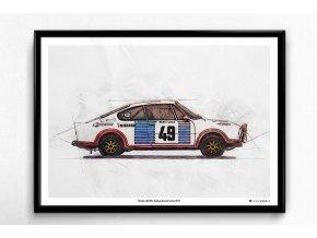 Škoda 130 RS Monte Carlo -  plakát, obraz na zeď