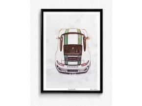 Porsche 911 R (991) - plakát, obraz na zeď