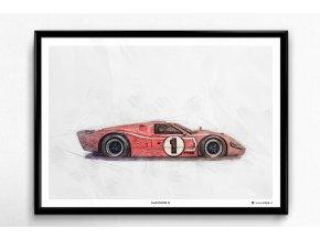 Ford GT40 Mk IV - plakát, obraz na zeď