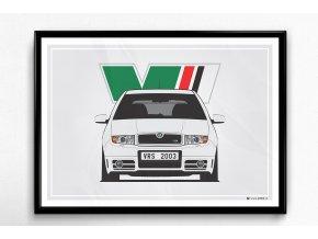 Škoda Fabia 1 RS - plakát, obraz na zeď