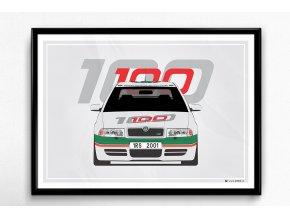 Škoda Octavia 1 RS WRC Edition - plakát, obraz na zeď