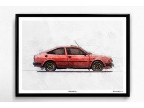 Škoda Rapid 135 - plakát, obraz na zeď