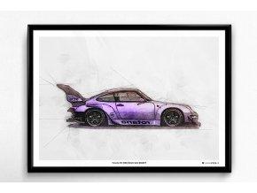 """Porsche 911 (993) RWB """"ROTANA"""" - plakát, obraz na zeď"""