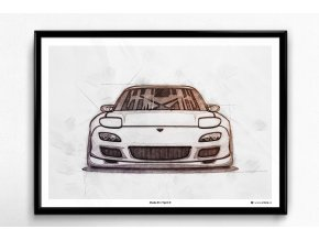 Mazda RX-7 Spirit R - plakát, obraz na zeď