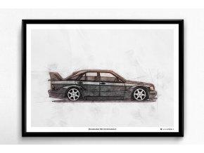 Mercedes-Benz 190 E 2.5-16 Evolution II - plakát, obraz na zeď