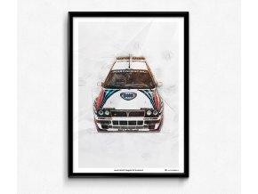 Lancia Delta HF Integrale Evo II - plakát, obraz na zeď