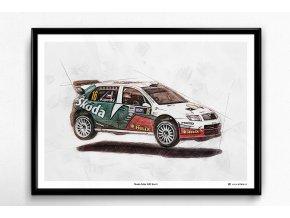 Škoda Fabia WRC Evo II - plakát, obraz na zeď