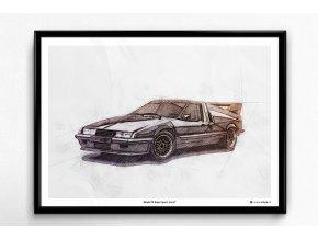 "Škoda 110 Super Sport ""Ferat"" - plakát, obraz na zeď"