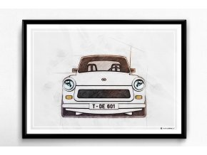 Trabant 601 - plakát, obraz na zeď