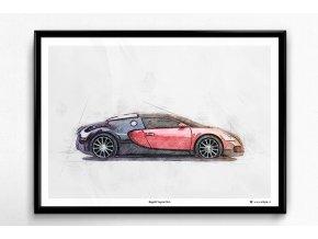 Bugatti Veyron 16.4 - plakát, obraz na zeď